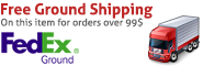 Free Ground Shipping - All orders over 99$