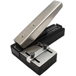 Stapler Style Slot Punch with Adjustable Centering Guide