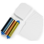 ZC10L Media kit - 400 PVC Cards + YMCO Ribbon