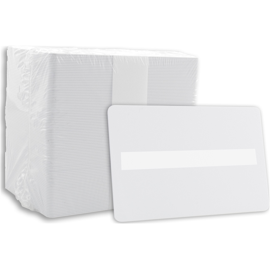 Blank PVC Cards White with Signature Panel, Middle - 30 MIL -500 cards  (CR80 030-SM) - Aptika